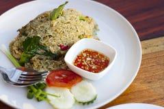 Grön curry stekt Rice Royaltyfria Foton