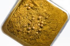 Grön currykryddablandning Arkivfoto