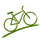 Grön cykel Arkivfoto