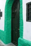 Grön dörr Royaltyfri Fotografi