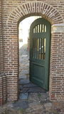 Grön dörr Arkivbilder