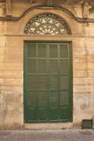 Grön dörr Royaltyfri Bild