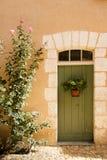Grön dörr Sanktt Jean de Cole Frankrike Fotografering för Bildbyråer