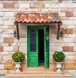 Grön dörreuropé Royaltyfria Foton