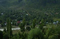Grön dal av Srinagar royaltyfri foto