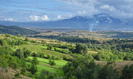 Grön dal i Bulgarien Arkivfoto