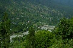 Grön dal nära Srinagar Fotografering för Bildbyråer