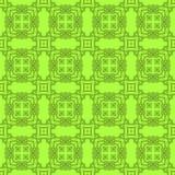 Grön dekorativ sömlös linje modell Arkivbild