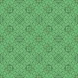 Grön dekorativ sömlös linje modell Royaltyfri Fotografi