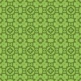 Grön dekorativ sömlös linje modell Arkivfoton