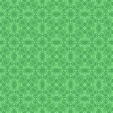 Grön dekorativ sömlös linje modell Royaltyfria Bilder