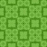 Grön dekorativ sömlös linje modell Arkivbilder