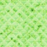 Grön dekorativ watercolored bakgrundsmodell royaltyfri fotografi