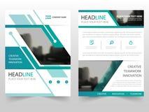 Grön design för mall för årsrapport för reklamblad för broschyr för räkningsaffärsbroschyr, bokomslagorienteringsdesign, abstrakt stock illustrationer