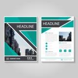 Grön design för mall för reklamblad för broschyr för vektorårsrapportbroschyr Royaltyfri Foto