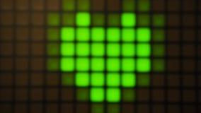 Grön digital hjärta Fotografering för Bildbyråer