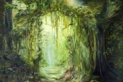 grön djungel royaltyfri illustrationer