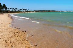 Grön dröm- strand, Maceio, Brasilien Arkivbild