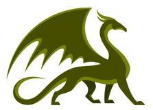 Grön drake stock illustrationer
