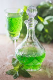 Grön drink med sodavatten royaltyfria bilder