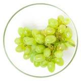 Grön druva i exponeringsglas Fotografering för Bildbyråer