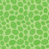 Grön easter sömlös modell med dekorerade easter ägg - vektor Arkivbilder
