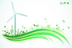 Grön Eco bakgrund Royaltyfria Bilder
