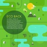 Grön Eco bakgrund Arkivbilder
