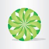 Grön ecobolldesign Stock Illustrationer