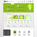 Grön ecoprofessionellwebsite Royaltyfria Bilder