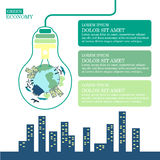 Grön ekologi vektor illustrationer