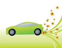 Grön ekologibil Vektor Illustrationer