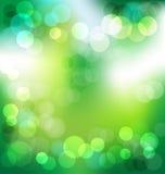 Grön elegant abstrakt bakgrund med bokehljus Royaltyfri Bild