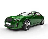 Grön elegant bil Royaltyfria Bilder