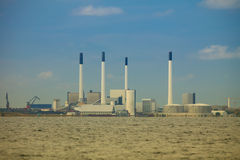 Grön elektrisk generatorkraftverk Arkivfoto