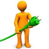 Grön energi vektor illustrationer