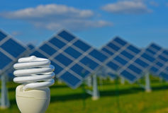Grön energi Arkivfoto
