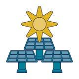 Grön energi för ekologi vektor illustrationer