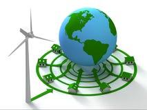Grön energi för planet Arkivbilder