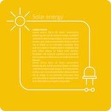 Grön energi i plan stil royaltyfri illustrationer