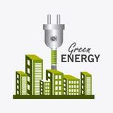 Grön energi och ekologi Royaltyfri Bild