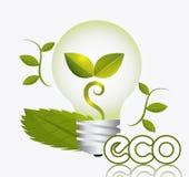 Grön energi och ekologi Arkivfoto