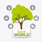 Grön energi och ekologi Arkivbilder
