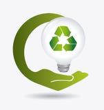 Grön energi och ekologi Fotografering för Bildbyråer