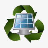Grön energi och ekologi Royaltyfri Foto