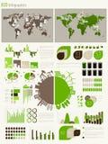 Grön energi och ekologi Infographic Arkivfoton