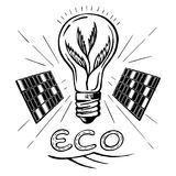 Grön energi skissar Royaltyfri Bild