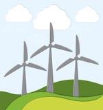 Grön energiinnovation Fotografering för Bildbyråer