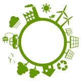 Grön energiplanetjord Arkivfoton