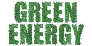 Grön energitext Arkivfoto